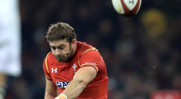 Wales' Leigh Halfpenny excelled with the boot.