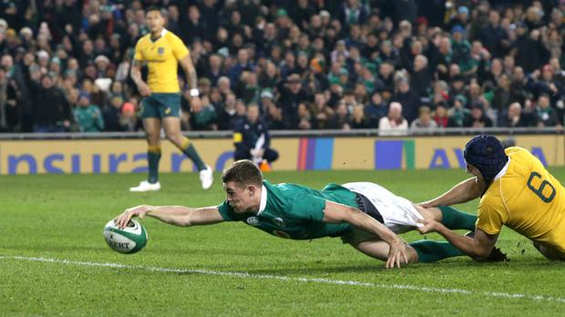 Ireland's Garry Ringrose scored a superb second try