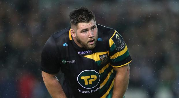Northampton prop Kieran Brookes has been given a two-week ban