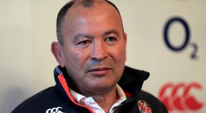 England coach Eddie Jones, pictured, has returned fire on Australia counterpart Michael Cheika