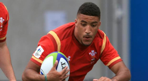 Wales' Keelan Giles claimed a try for Ospreys