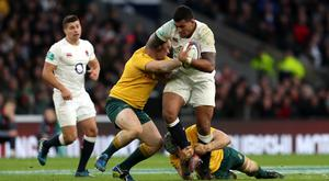 Nathan Hughes made his full debut in England's victory over Australia