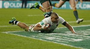 England's Jonathan Joseph scored two tries against Australia