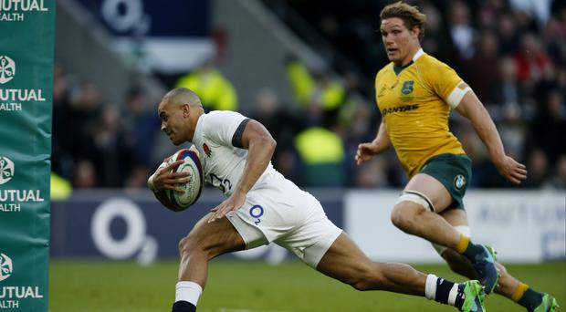 Jonathan Joseph scored two tries for England