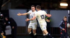 George Ford, left, and Owen Farrell, right, have played a big part in England's record-equalling success this year