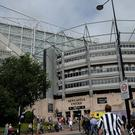 Newcastle United's St James' Park ground could host rugby union's European Champions Cup final in 2018