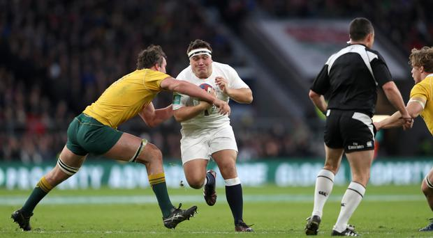 Jamie George scored a try for Saracens against Sale