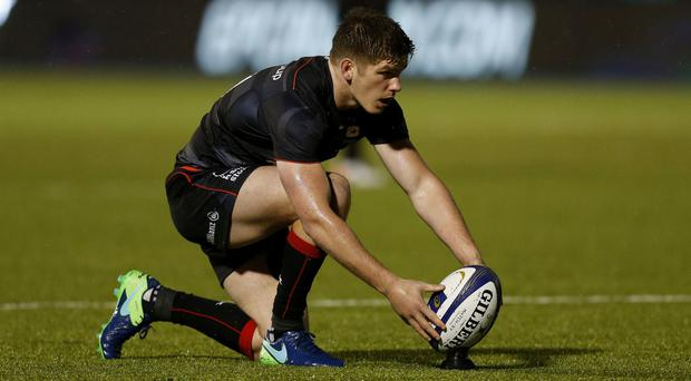 Owen Farrell was taken off early in the second half as Saracens beat Sale