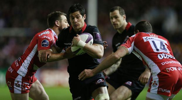 Edinburgh's Phil Burleigh, centre, faces a disciplinary hearing in London on Wednesday