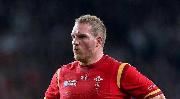 Wales prop Gethin Jenkins faces three months on the sidelines after suffering a biceps injury