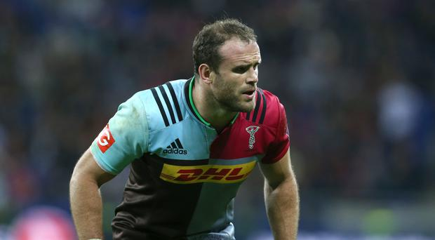 Wales centre Jamie Roberts scored a hat-trick for Harlequins