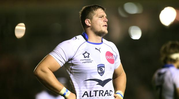 Montpellier's Paul Willemse was sent off before Castres took the lead
