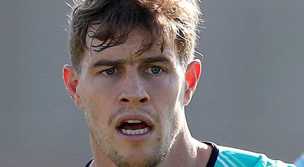 Sidelined: Andrew Trimble must sit things out again this evening