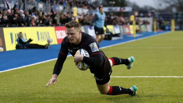 Saracens' Chris Ashton scored against Newcastle