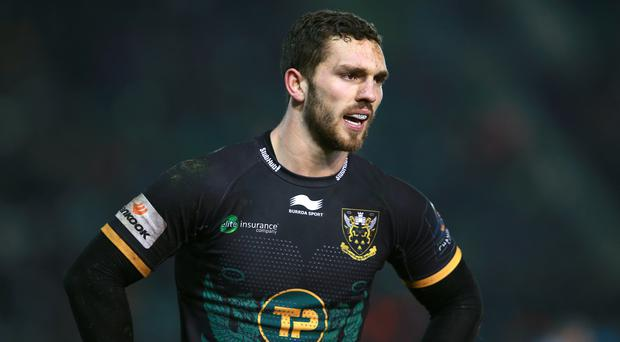 George North will start for Northampton against Gloucester on Sunday