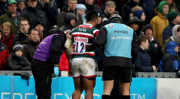 The fitness of Manu Tuilagi is of concern to Leicester and England again.
