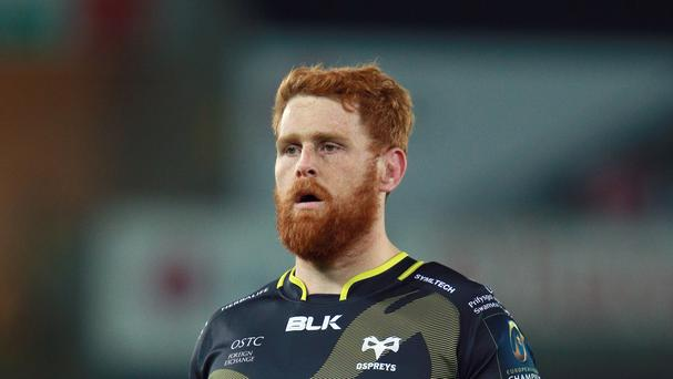 Dan Baker scored a try for Ospreys in the 29-7 defeat of Connacht.