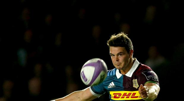 Harlequins' Tim Swiel impressed in the defeat of Sale.