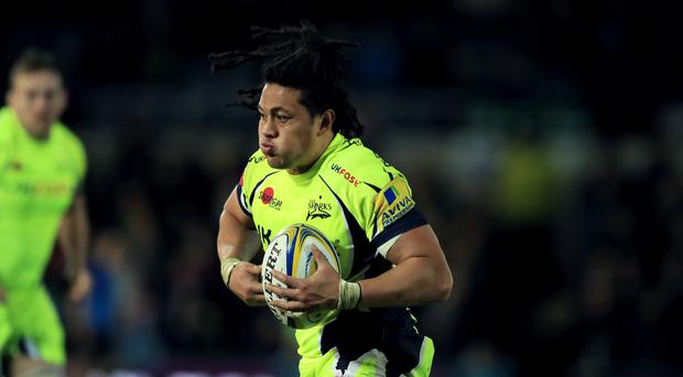 Sale back row TJ Ioane appeared to be concussed against Harlequins yet stayed on the pitch