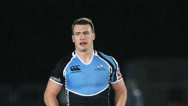 Glasgow Warrior's Stuart Hogg was sin-binned 10 minutes from time against Munster