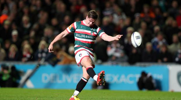 Freddie Burns kicked Leicester's only points against Racing 92