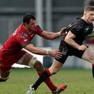 Chris Ashton, right, helped Saracens avoid defeat to Scarlets