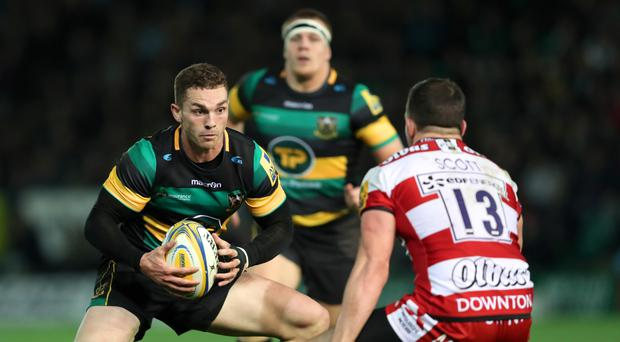 George North, pictured left, has given short shrift to questions over his welfare following his latest head injury