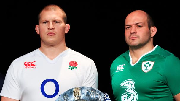 Rory Best, right, and Dylan Hartley, left, are vying for the Lions captaincy