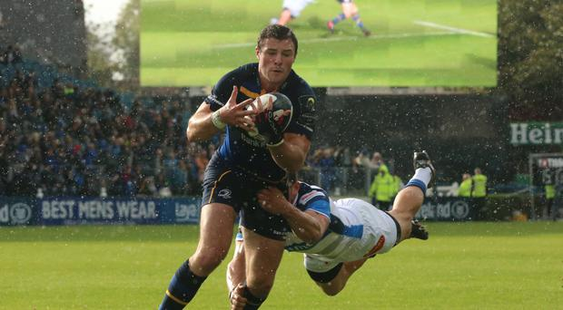 Robbie Henshaw went over twice for Leinster