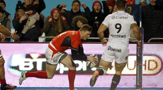 Chris Ashton scored Saracens' only try against Toulon