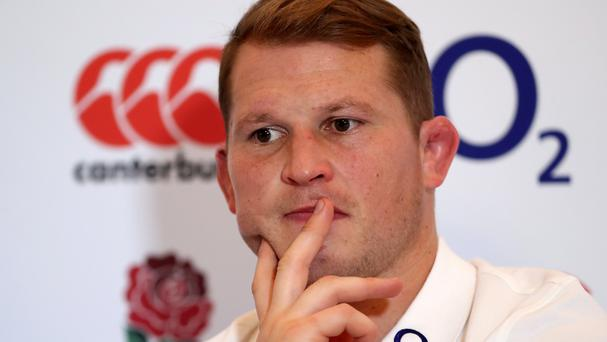 England captain Dylan Hartley has been doing tackling practice