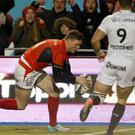 Chris Ashton's try was his fourth in three starts since completing a 13-week suspension for biting