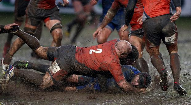 The Rodney Parade groundsman saw the pitch turn to mud