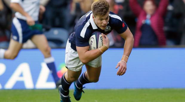 Huw Jones, pictured, has been forced to convince head coach Vern Cotter he is back up to speed
