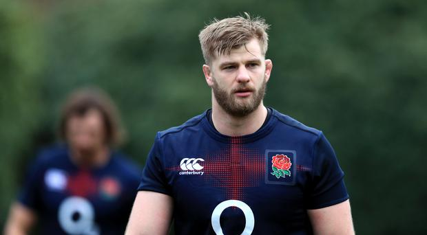 England lock George Kruis is struggling with a knee injury