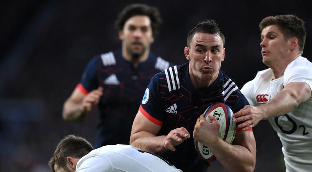 France's Louis Picamoles, centre, was the man of the match on the losing side against England