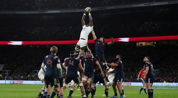 Maro Itoje was handed his first international start at number six for England