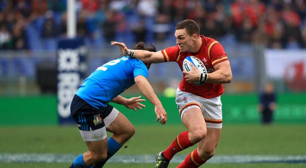 George North, right, scored Wales' final try