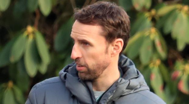 England football manager Gareth Southgate paid the national rugby union side a visit
