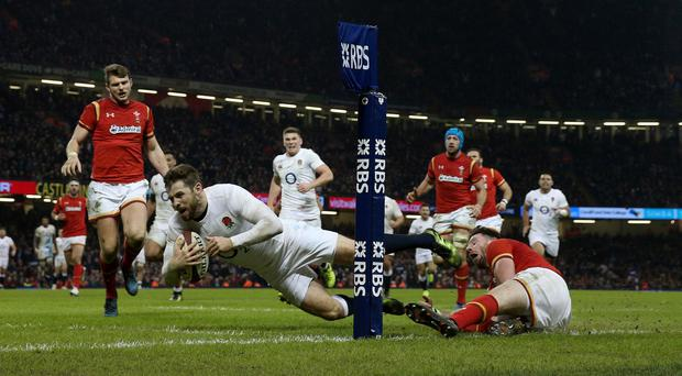 Elliot Daly's late try secured victory for England over Wales
