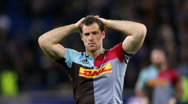 Tim Visser's try was in vain for Harlequins as they lost out to Bath