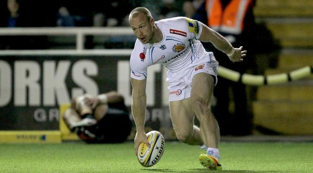 Exeter's James Short scored a hat-trick of tries against Worcester