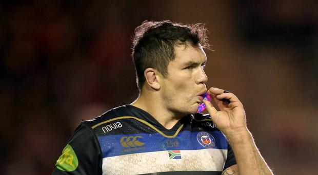 Bath's Francois Louw (pictured) and team-mate Kahn Fotuali'i have been banned for two weeks for disciplinary offences