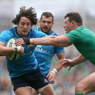 Italy centre Michele Campagnaro, left, has been in fine form for Exeter this season