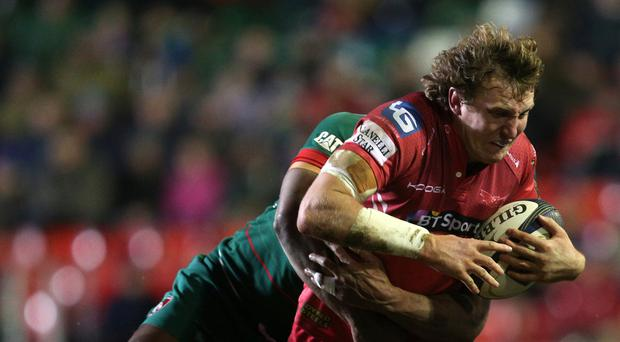 Hadleigh Parkes sparked Scarlets' second-half recovery with his try