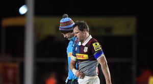 Harlequins lost Nick Evans to a first-half injury