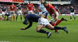 Tim Visser defied his critics to score Scotland's second try