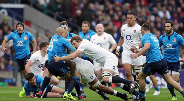England's Joe Launchbury took the match of the match award against Italy