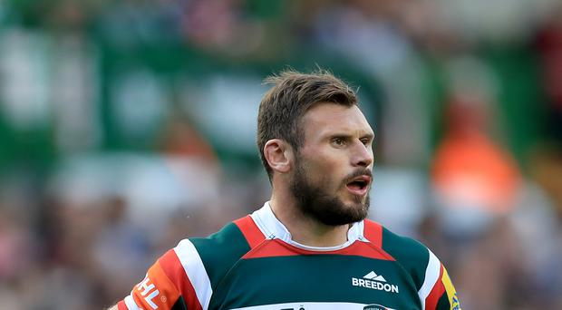 Aaron Morris' tackle on Leicester's Adam Thompstone (pictured) has earned him an RFU disciplinary hearing