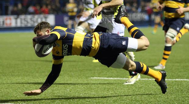 Aled Summerhill scored a try for Cardiff but Munster were too strong
